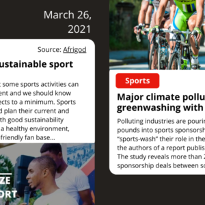 Climate News: Sports, Energy, Commerce